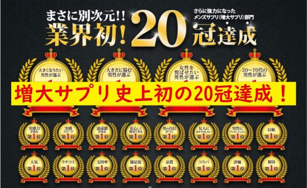 ブラビオンS20冠達成