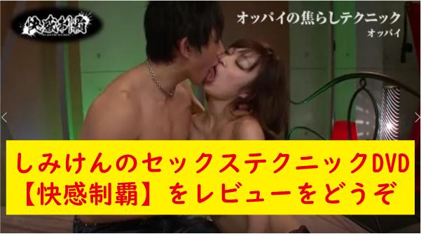 しみけんのセックステクニックDVD【快感制覇】のレビュ